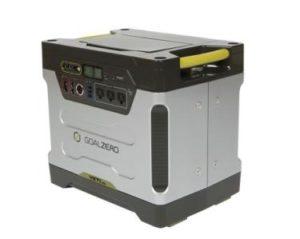 Till denna bjässe från Goal Zero som klarar av att köra ditt kylskåp som strömmen skulle försvinna.